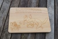 Tom and Jerry Personalised wooden cheese board, cult TV, funny chopping board, cutting board serving platter cat and mouse,