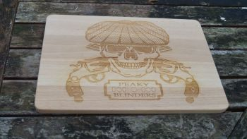Personalised chopping board, gangster film, cult TV,  by order of the Peaky Blinders