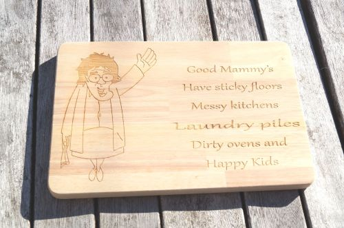 Personalised wooden Mrs Browns Boys cheese board, cult TV, funny chopping b