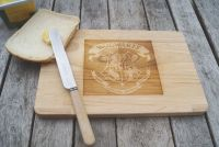 Personalised wooden cheese board, wizard and witch mystical board cult film, chopping board, cutting board serving platter