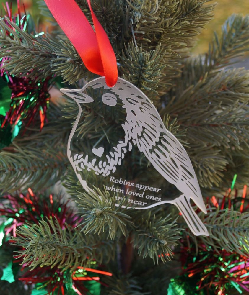 Personalised Robin decoration