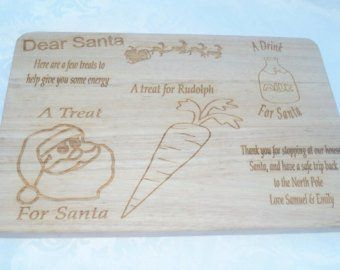 Santa's Christmas Eve board, christmas eve plate, santas plate, treats for santa, xmas eve plate personalised christmas plate