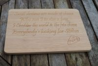 Personalised cheese board, sweet dream are made of cheese