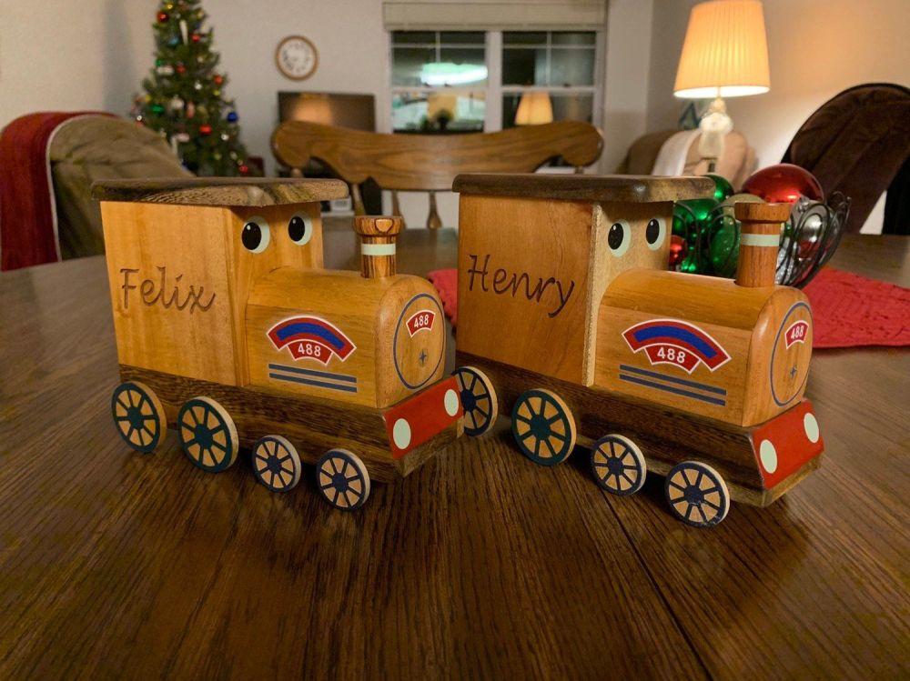 Wooden Train Money box