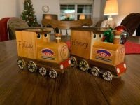Wooden Train Money box