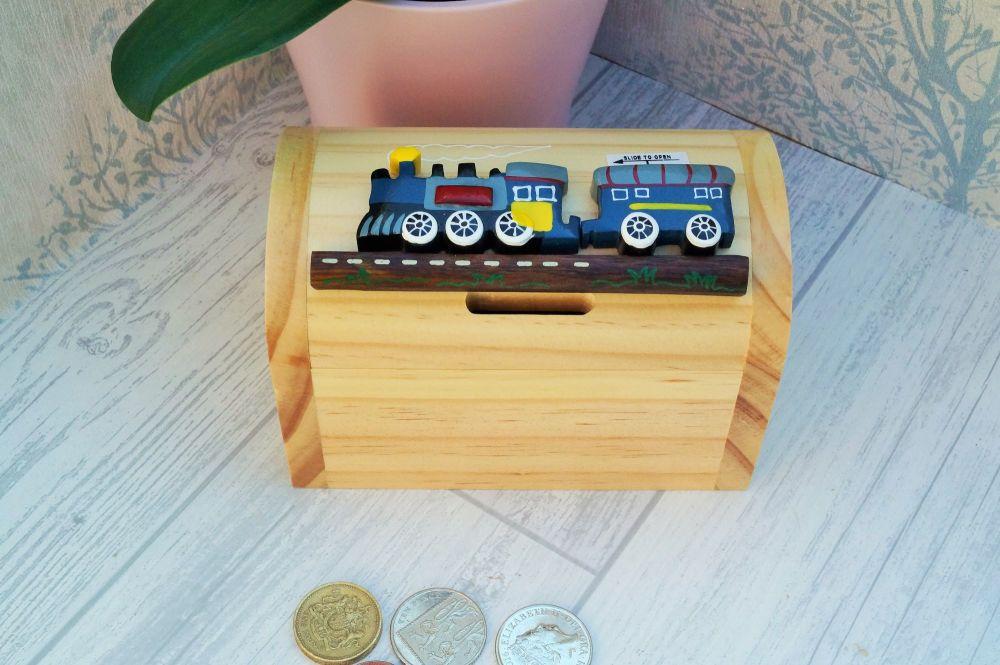 Wooden blue train