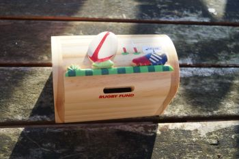 Rugby money box