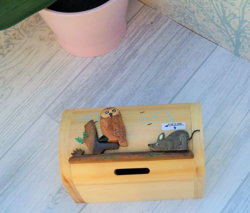 Owl and Mouse moneybox