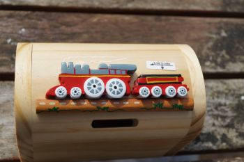 Wooden red train