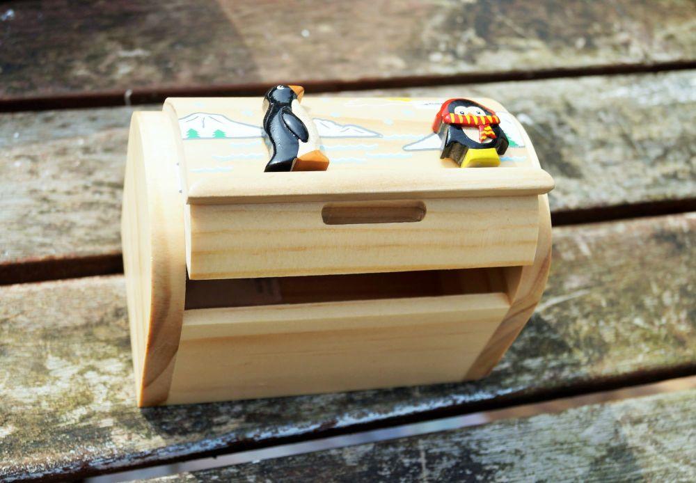 Penguin moneybox