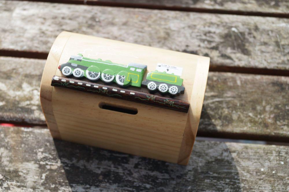 Green train money box