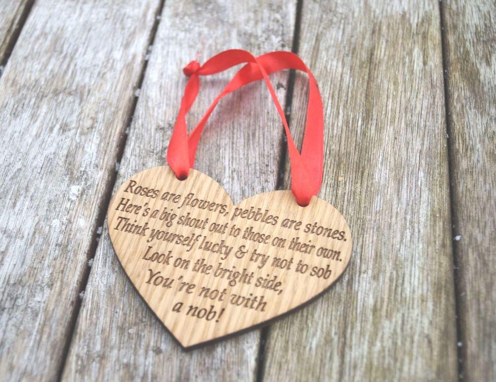 Valentines Plaque For Single Friend