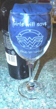Girls Will Save The Wold Glass