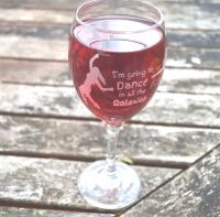 Dance In All The Galaxies Wine Glass