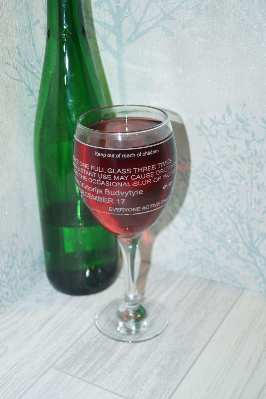 Pharmacy Label Design Wine Glass
