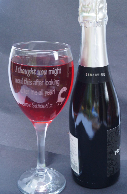 Teachers funny wine glass