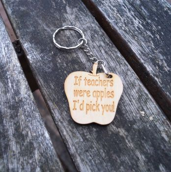 If Teachers Were Apples Keyring