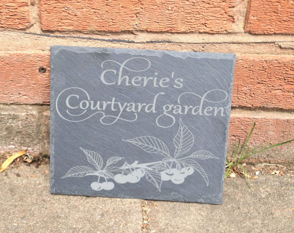 Personalised Slate House Sign
