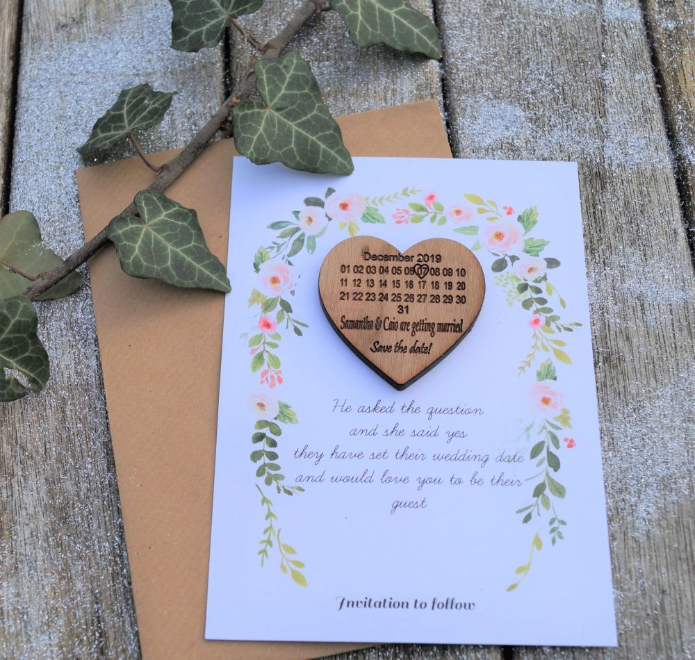 Save The Date magnet with Card and Envelope