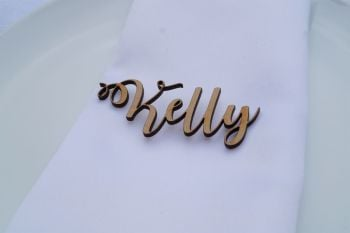Wooden Name Place Setting