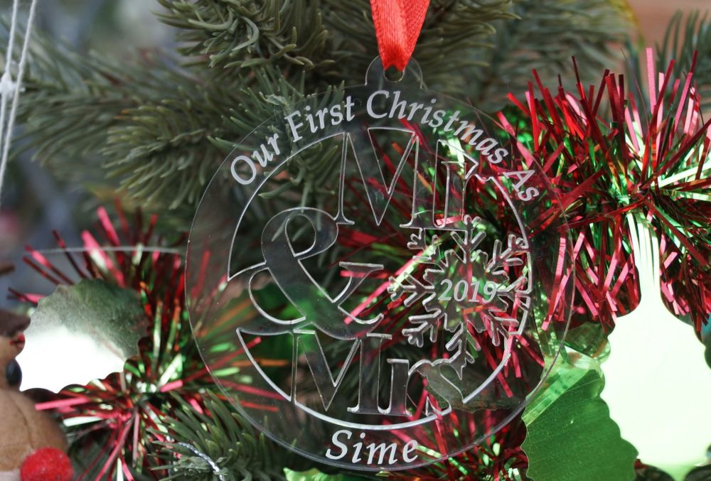New Christmas in heaven star decoration, personalised decoration, in loving