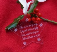 Those we love don't go away christmas decoration. Christmas in heaven star decoration, personalised decoration, in loving memory, christmas star, pers