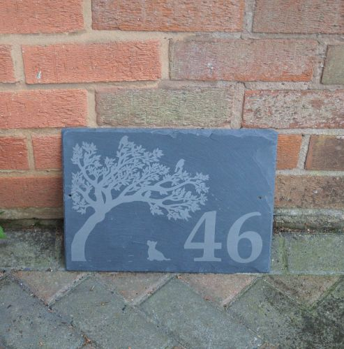 Personalised Tractor Slate House Sign