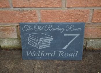 Book house sign