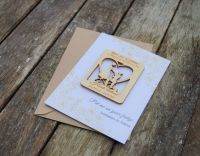 Custom Order 35 x Oak Save The Date magnet with Cards