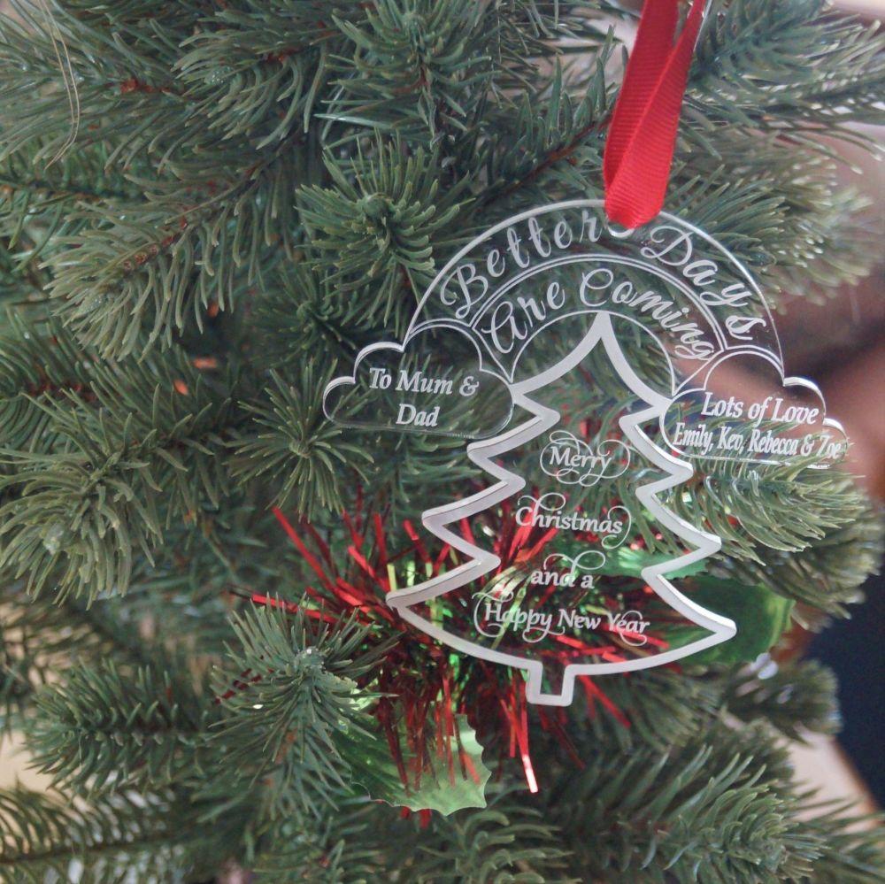 Personalised lockdown christmas decoration
