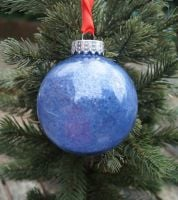 Blue glastic bauble
