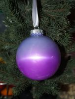 Purple glastic bauble