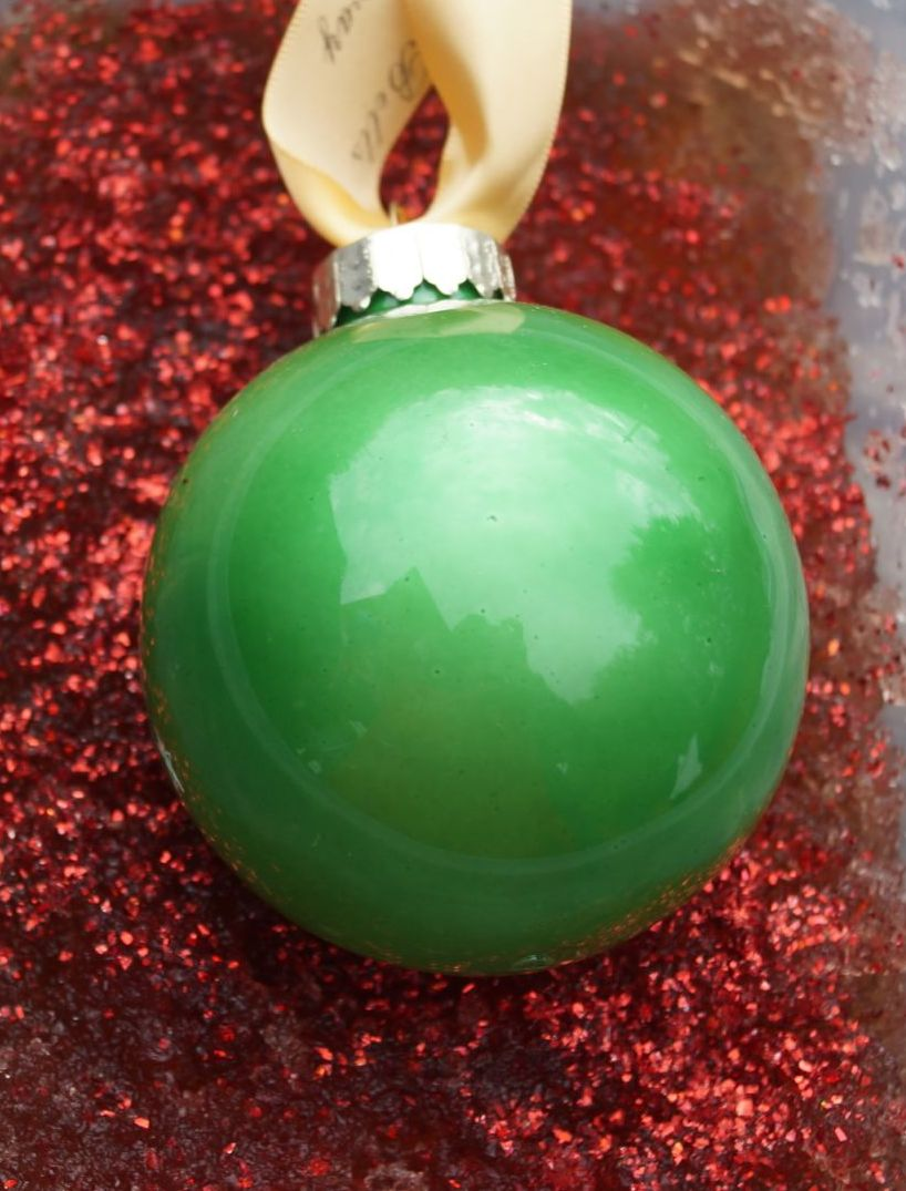 Green glastic bauble
