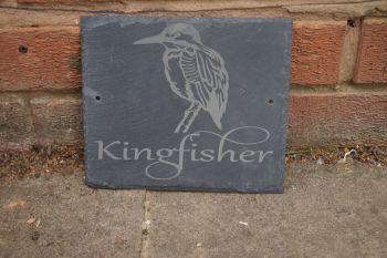 Slate kingfisher house sign