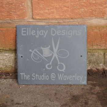 Personalised sewing house sign