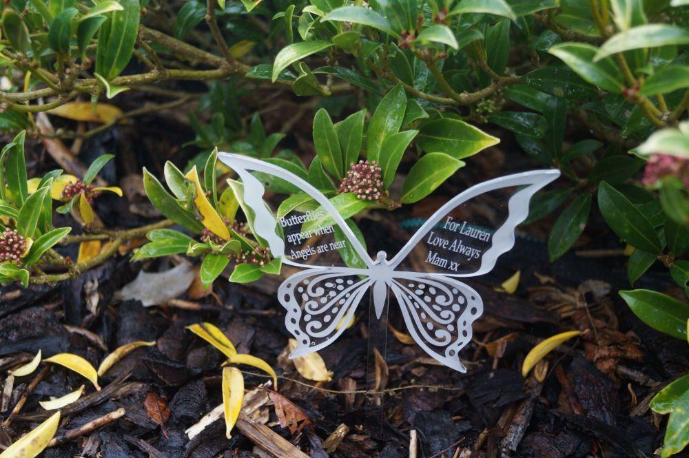 butterfly appear memorial Chbutterfly decoration, plant pot decoration, gar