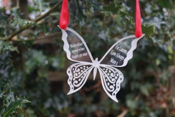 Butterfly memorial decoration