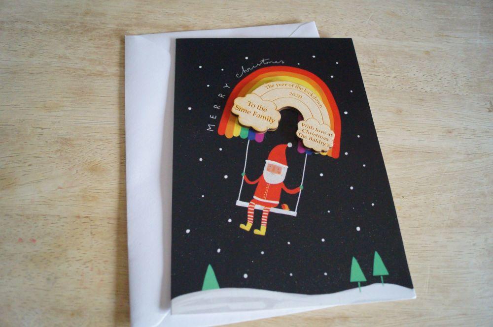 christmas rainbow card