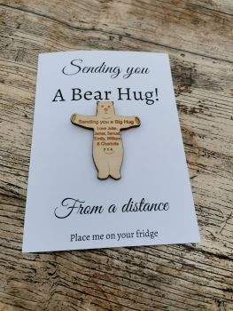 Bear hug,  letterbox magnet and card