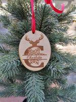 monogram tree decoration, personalized bauble, family decoration, reindeer decoration