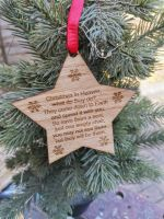 Christmas in heaven star decoration, personalised decoration, memorial,