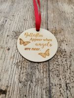 Wooden butterfly memorial Christmas decoration