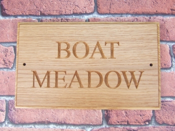 Two Row Carved Oak House Sign