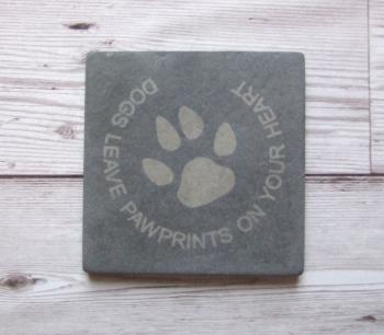 Slate Coaster 'Pawprints'