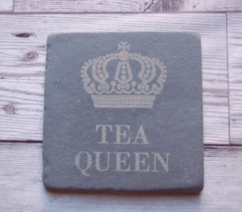 Slate Coaster 'Tea Queen'