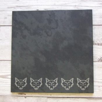 Slate cheeseboard 'Fox'