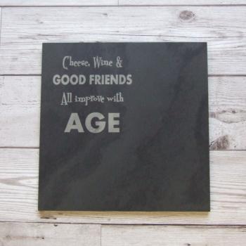 Slate cheeseboard 'Good Friends'