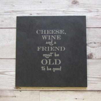 Slate cheeseboard 'Old Friends'