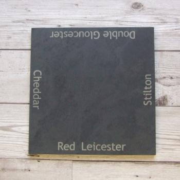 Slate cheeseboard 'Cheese Types'