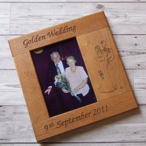 Oak Photo Frames With Motif